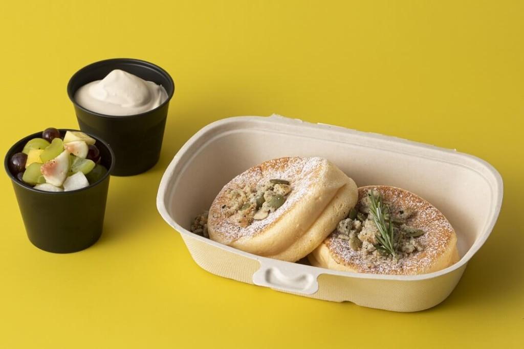 フリッパーズ 奇跡のパンケーキ オータムフルーツ&キャラメルミルクティー テイクアウト