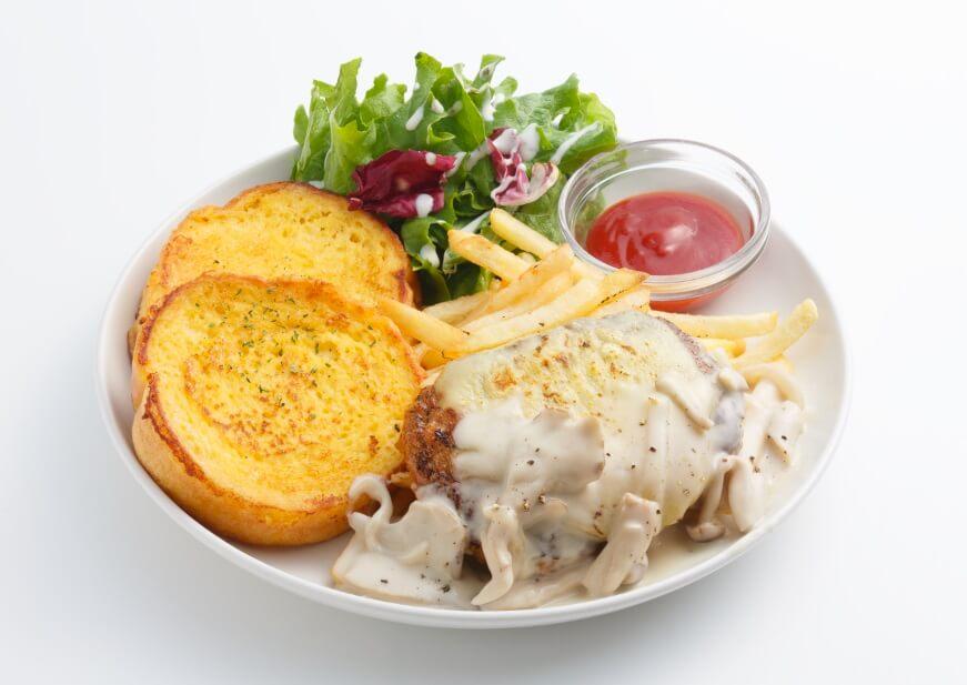 Ivorish きのこクリームチーズハンバーグ