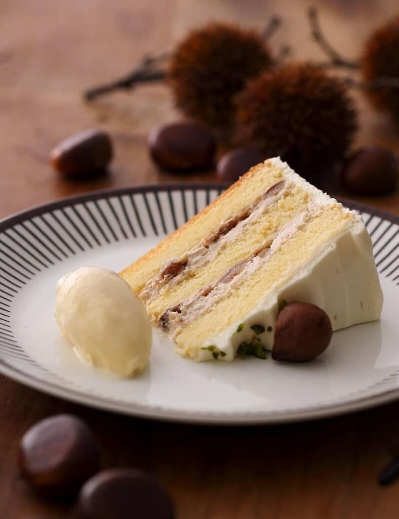 キハチカフェ 渋皮栗のショートケーキ