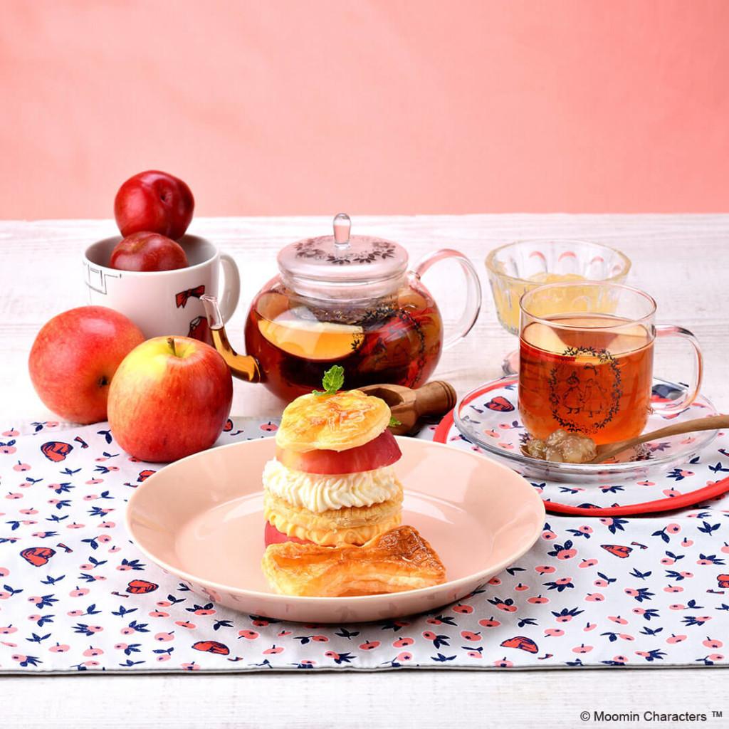 ムーミンカフェ ニンニ りんごのミルフィーユ仕立て