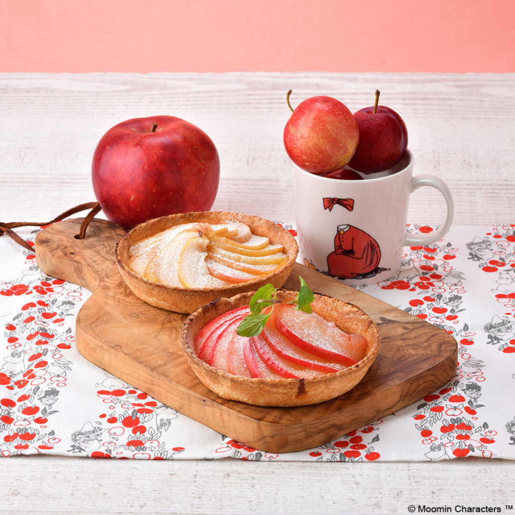 ムーミンカフェ ニンニ リンゴのフルーツタルト