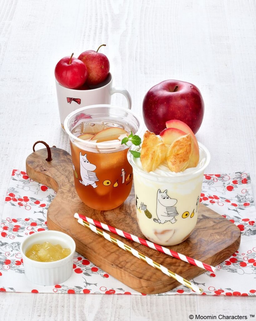ムーミンカフェ ニンニ リンゴのアップルカスタードミルク