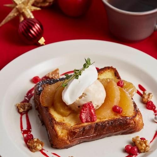 アフタヌーンティーラブ&テーブル ベイカーズフレンチトースト 焼きりんご&キャラメルトフィー