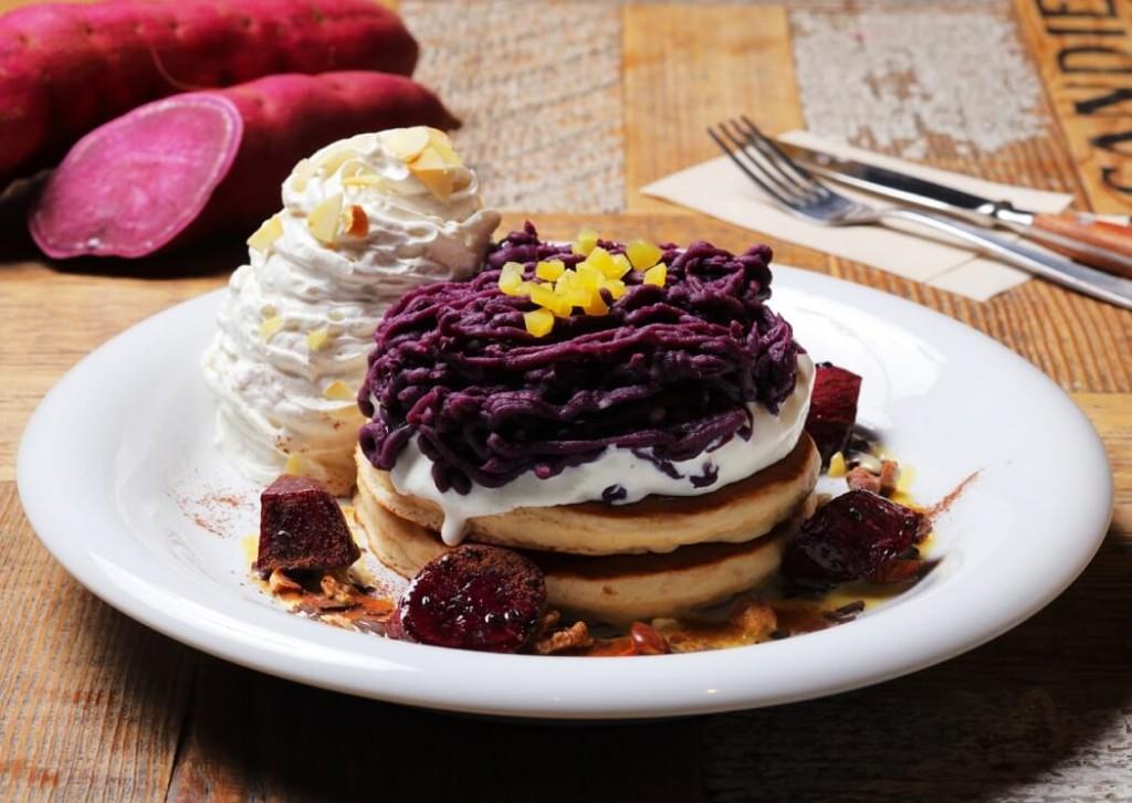 アロハテーブル 紫芋のモンブランパンケーキ
