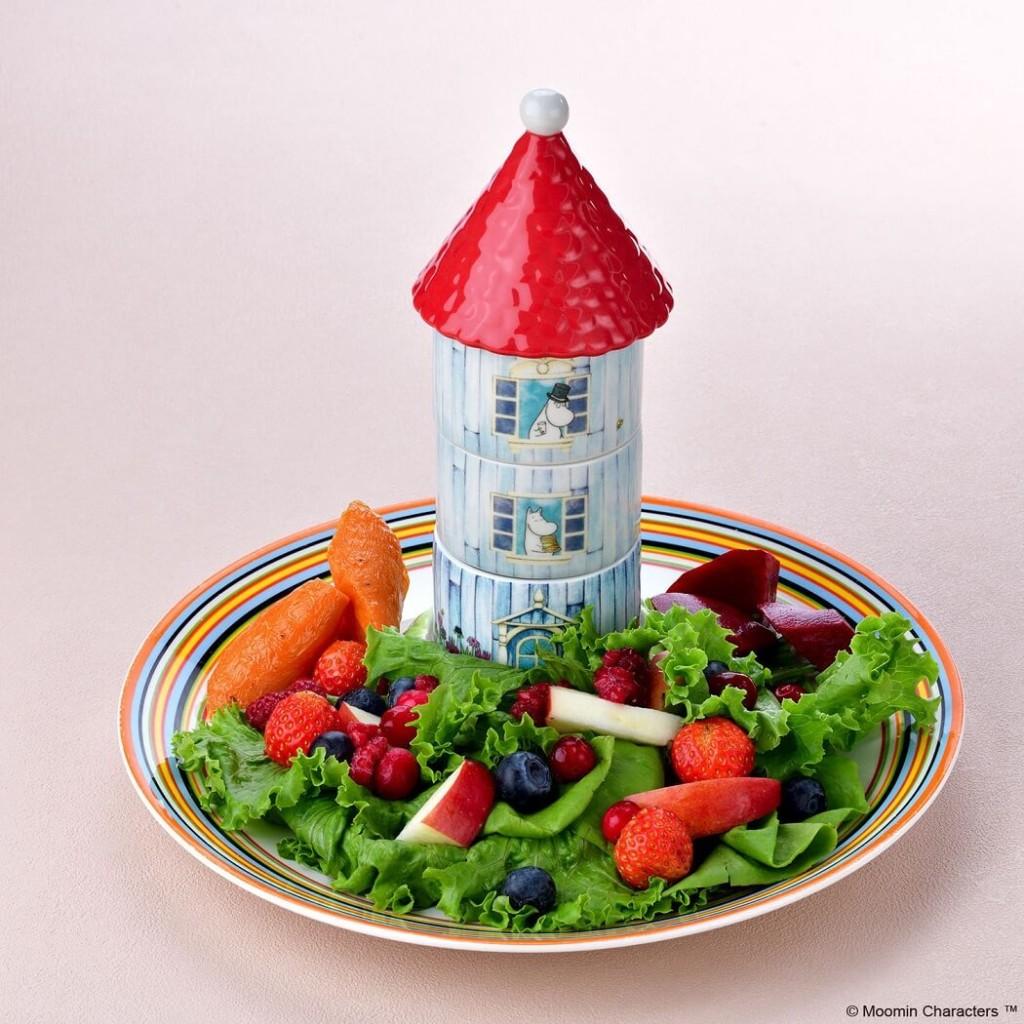 ムーミンカフェ ムーミンハウス たっぷりベリーのフルーツサラダ