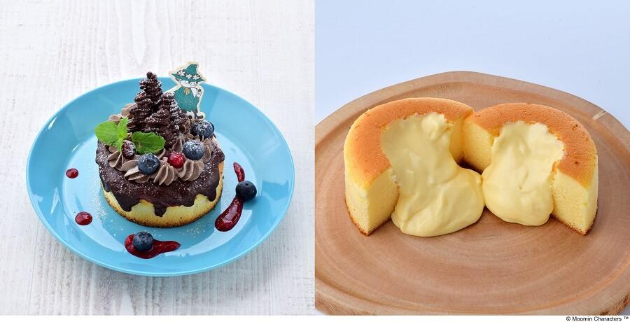 ムーミンカフェ スナフキン 森のチョコレートスフレパンケーキ