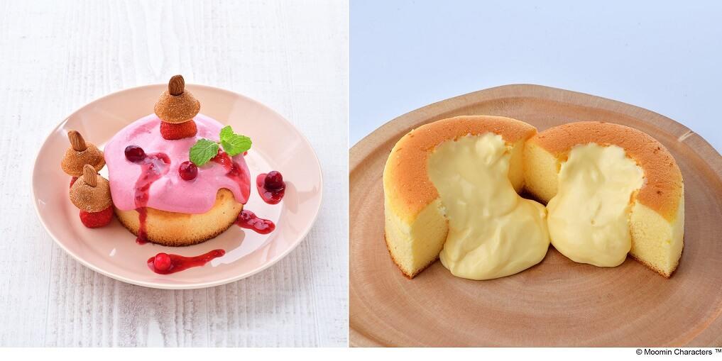 ムーミンカフェ リトルミイ たっぷり木いちごソーススフレパンケーキ