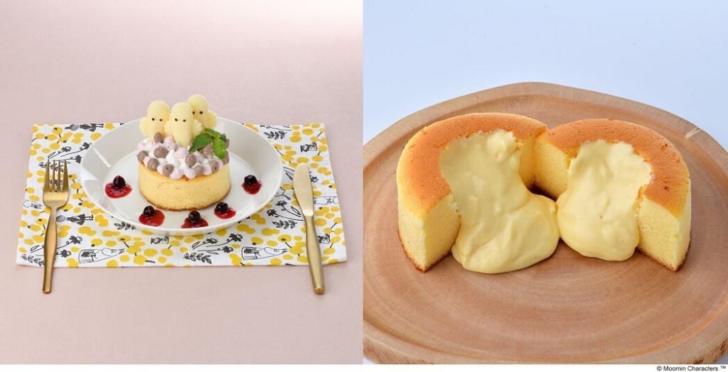ムーミンカフェ ニョロニョロ お祝いスフレパンケーキ
