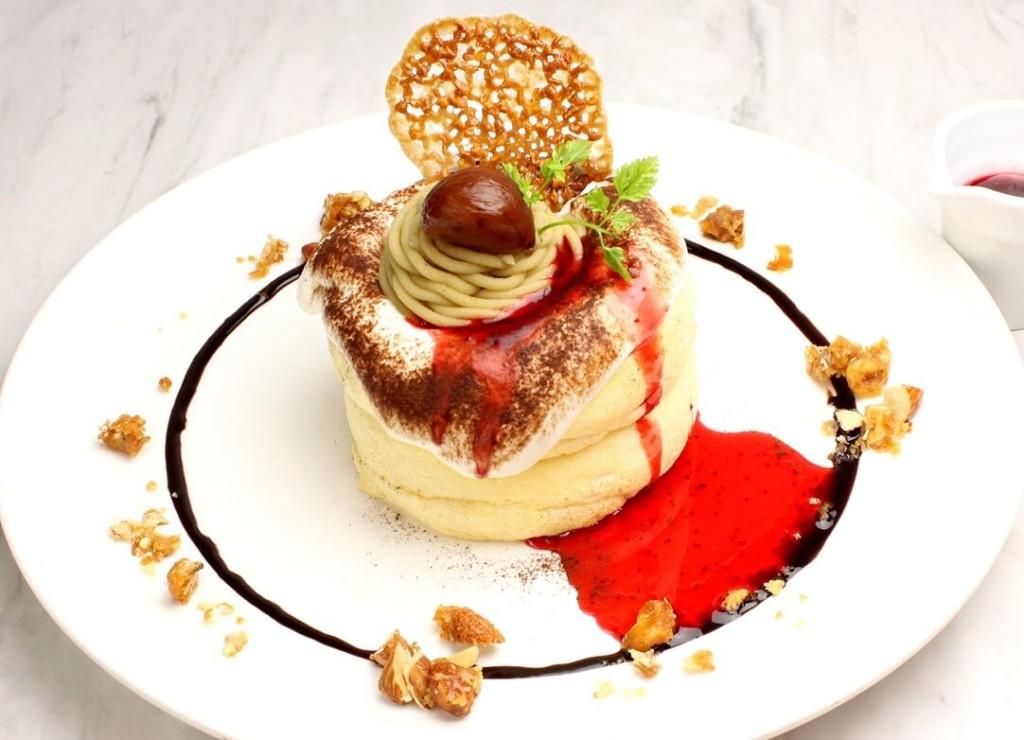OMATCHA SALON 和栗のモンブランスフレパンケーキ