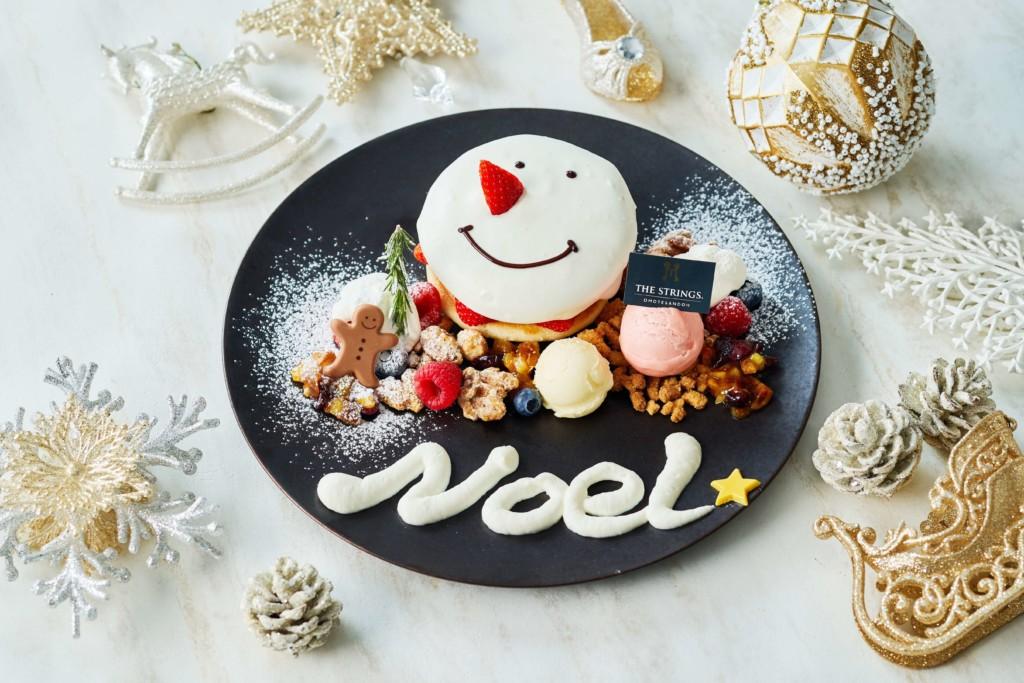 Cafe & Dining ZelkovA スノーマンパンケーキ メープル&ストロベリー