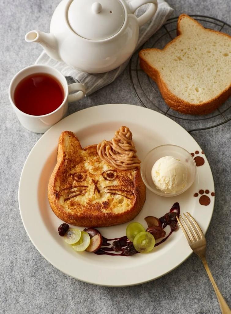 アフタヌーンティー・ラブアンドテーブル ねこねこ食パンのフレンチトースト モンブランバニラ