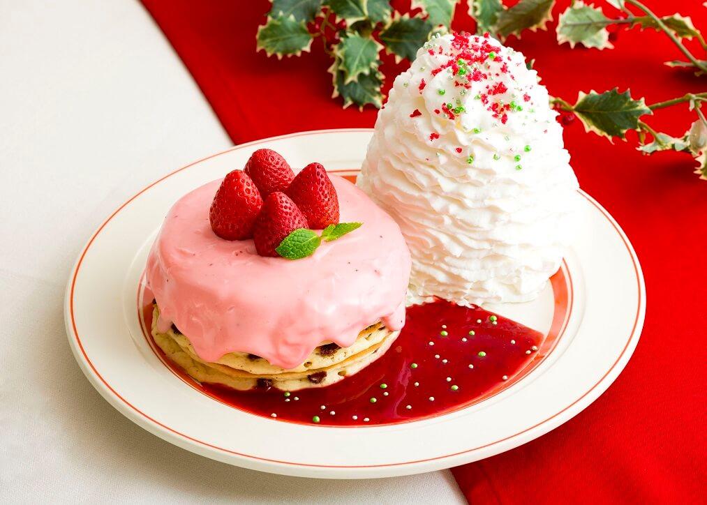 エッグスンシングス 『苺のクリスマスパンケーキ』