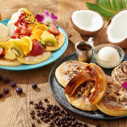 アイランドヴィンテージコーヒー 「アイランドパンケーキ コナ・モカ」と「アイランドパンケーキ アサイー&トロピカルソース」
