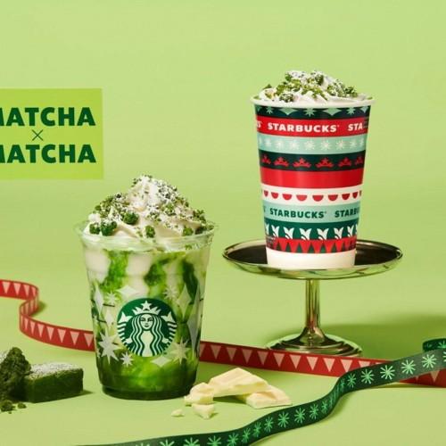 スタバ 『抹茶×抹茶 ホワイト チョコレート フラペチーノ®』と、『抹茶×抹茶 ホワイト チョコレート』