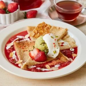 【期間限定】Afternoon tea LOVE&TABLEで「苺とピスタチオの真っ赤なシュゼット」発売!