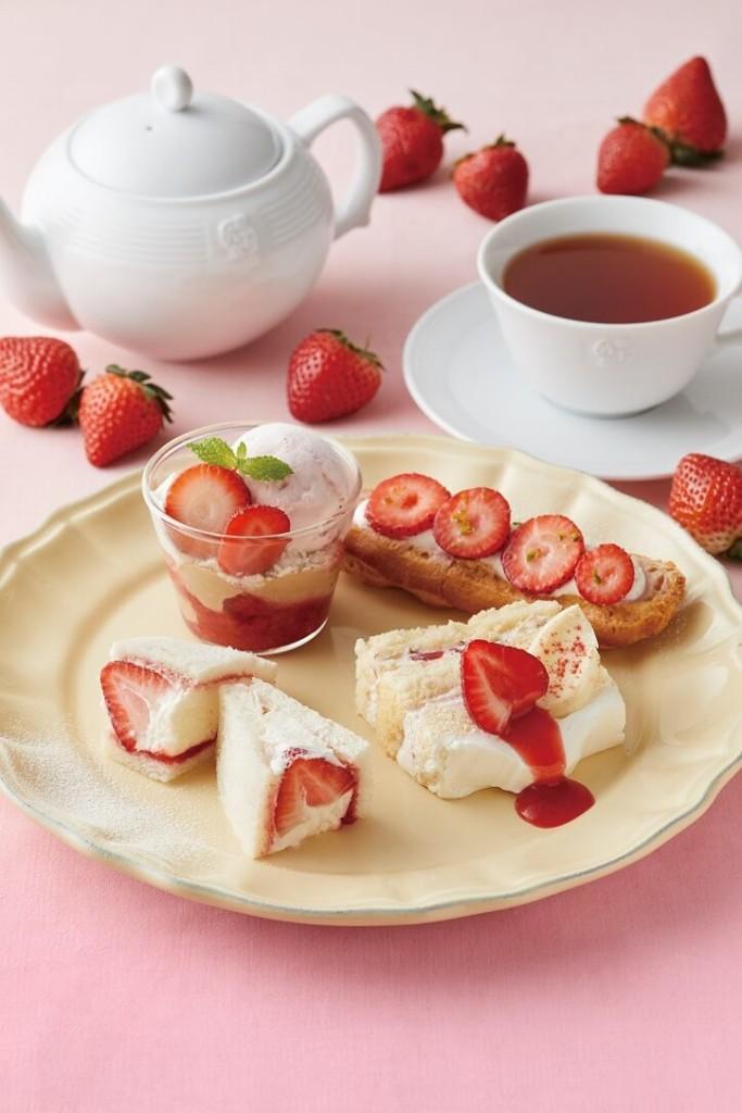 Afternoon Tea 苺のアフタヌーンティーセット 第1弾
