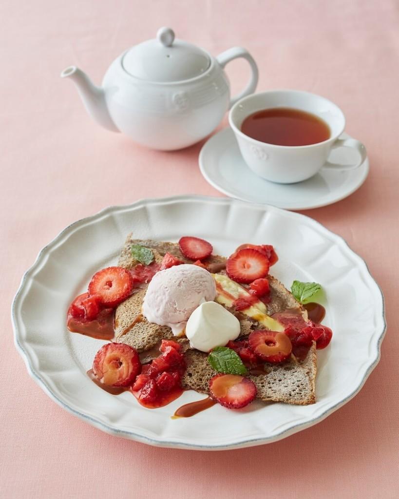 Afternoon Tea 苺と塩キャラメルソースのガレット