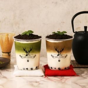 ジアレイ『盆栽抹茶タピオカラテ』『盆栽ほうじ茶タピオカラテ』