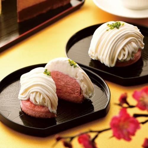 カフェドクリエ ホワイトチョコとあまおう苺のモンブラン