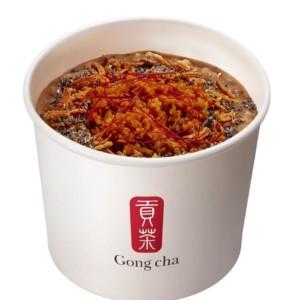 【新作】ゴンチャ初のフードメニュー「彩々粥」に、旨辛な味わいの『彩々粥 黒胡麻坦々』が新登場!