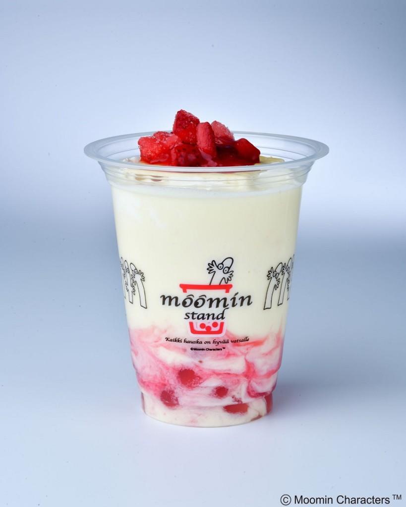 ムーミンスタンド いちごのミルフィーユミルク