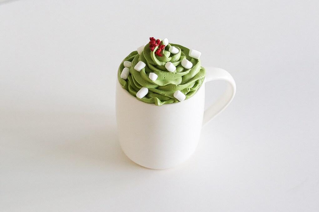 すすむ屋茶店 クリスマス抹茶ラテ