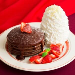 エッグスンシングス 「とろけるフォンダンショコラパンケーキ」