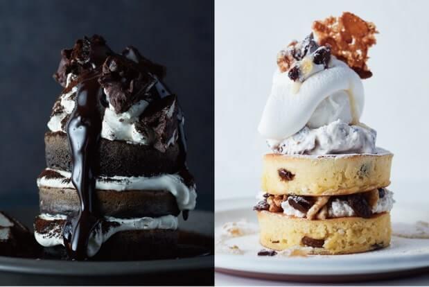 J.S. PANCAKE CAFEで「大人ラムレーズンパンケーキ」と「ブラックティラミスパンケーキ」