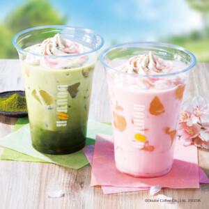 ドトールコーヒー 桜オレ わらび餅 / 桜抹茶オレ わらび餅