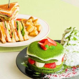 エッグスンシングス『宇治抹茶ティラミスパンケーキ』と、『エッグスンクラブハウスサンド』