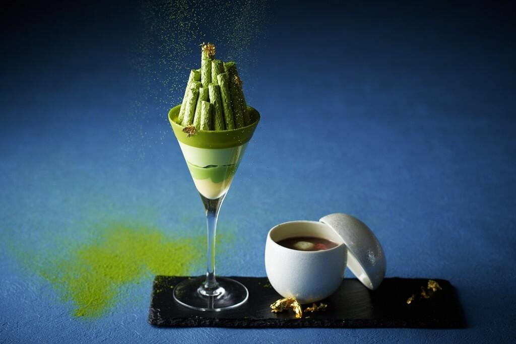 インターコンチネンタル 東京ベイの「ニューヨークラウンジ」 抹茶パフェとお汁粉