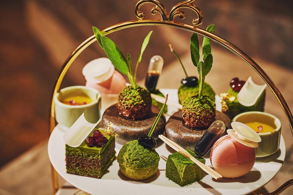 ホテル インターコンチネンタル 東京ベイのハドソンラウンジ 宇治抹茶アフタヌーンティー