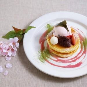 ココノハ『桜もち風味の春色パンケーキ』