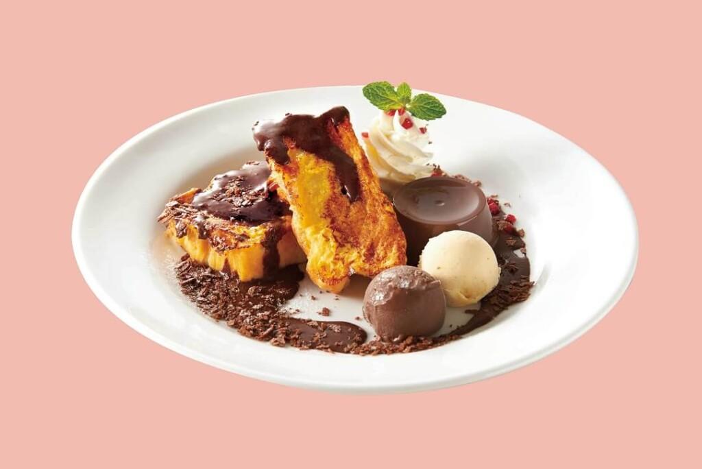 デニーズ GODIVA チョコレートフレンチトースト