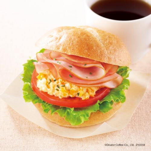 ドトールコーヒー モーニング・セットA ハムタマゴサラダ