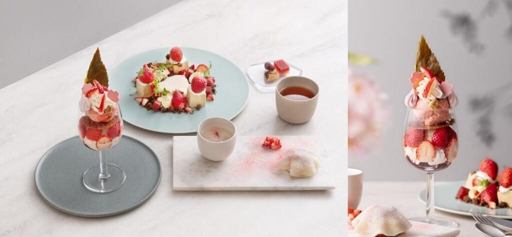 フルーツサロン 苺と桜のコース