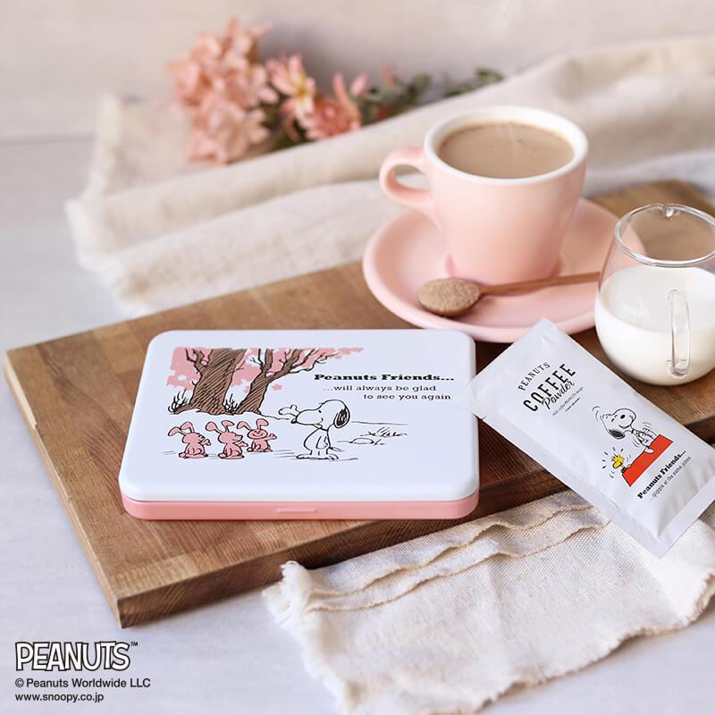 PEANUTS coffee 桜黒糖ラテ