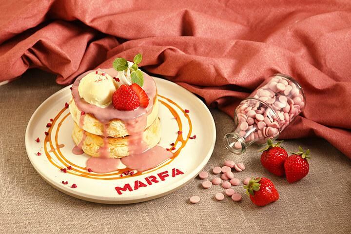 マーファカフェ ルビーチョコパンケーキ