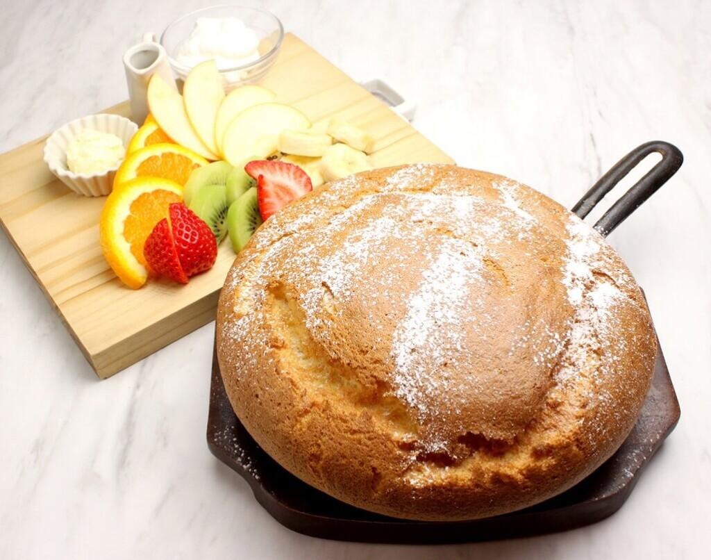 OMATCHA SALON ミックスフルーツの台湾カステラパンケーキ