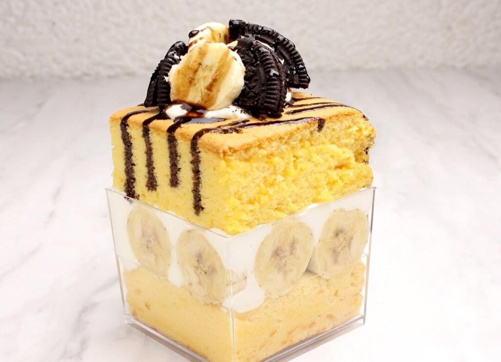 台湾カステラショートケーキ  チョコバナナとオレオ
