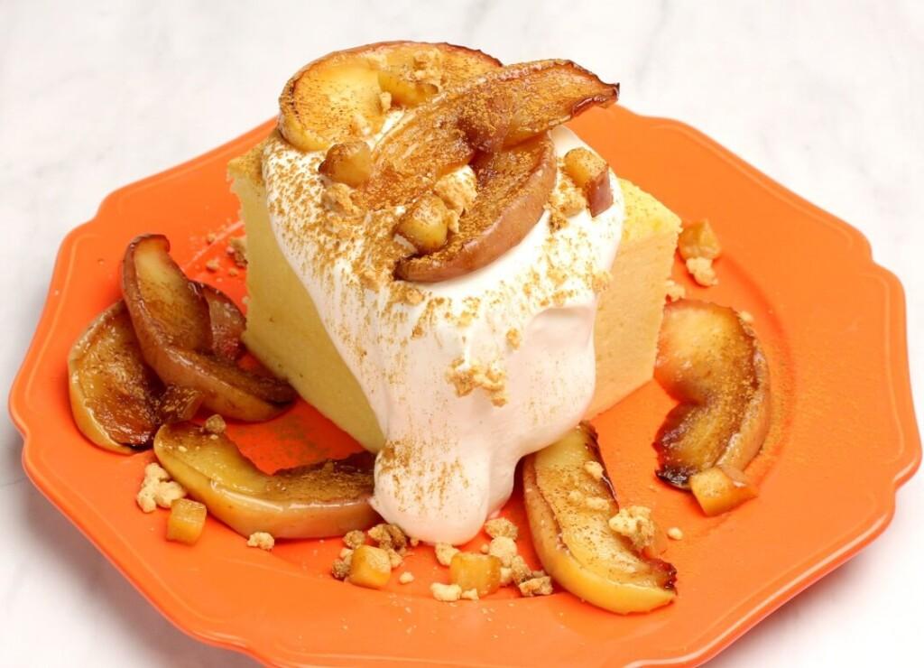 台湾カステラデコケーキ 焼きりんごとシナモン