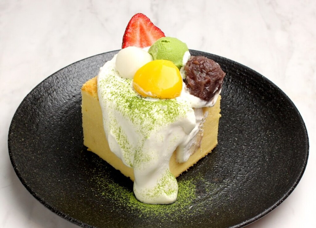 台湾カステラデコケーキ お抹茶