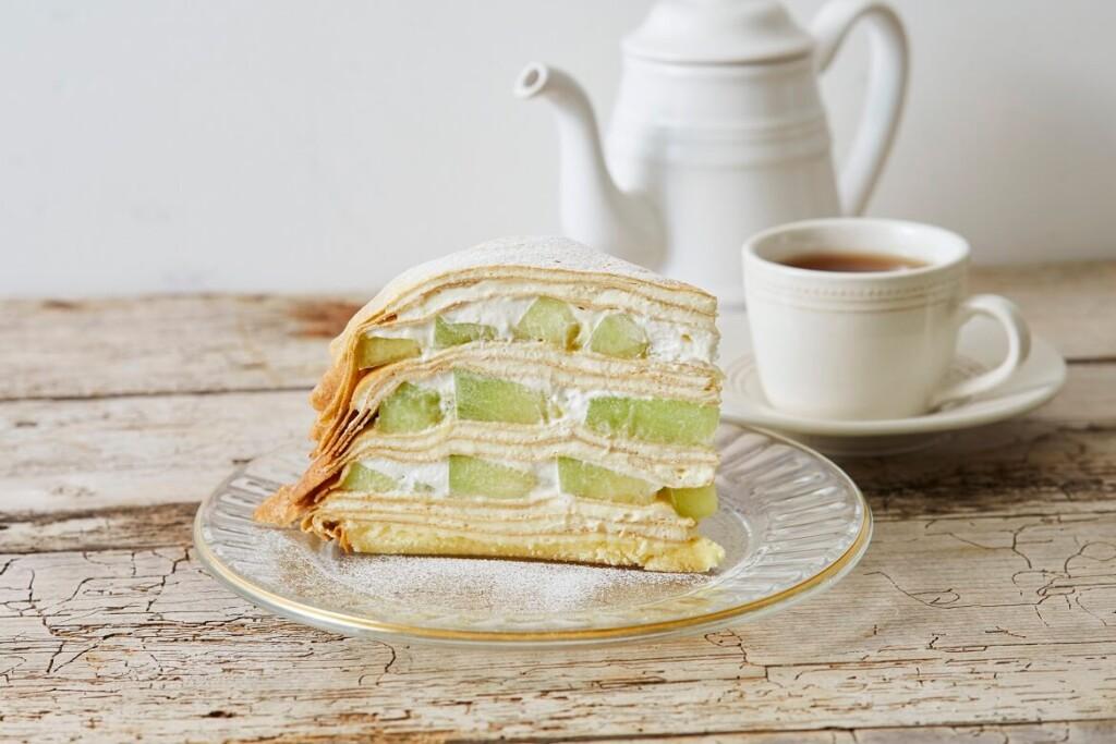Afternoon Tea LOVE&TABLE メロンのミルクレープ