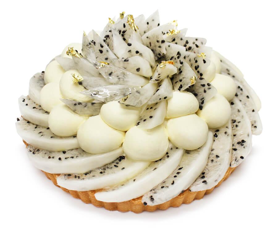 カフェコムサ コロンビア産「ハニーピタヤ」とパッションフルーツムースのケーキ