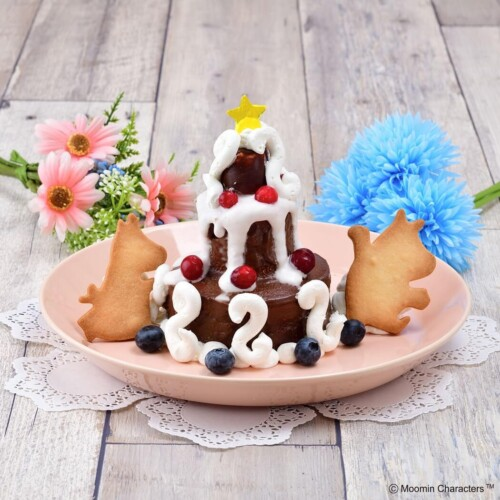 ムーミンカフェ ムーミン一家 お祝いケーキ