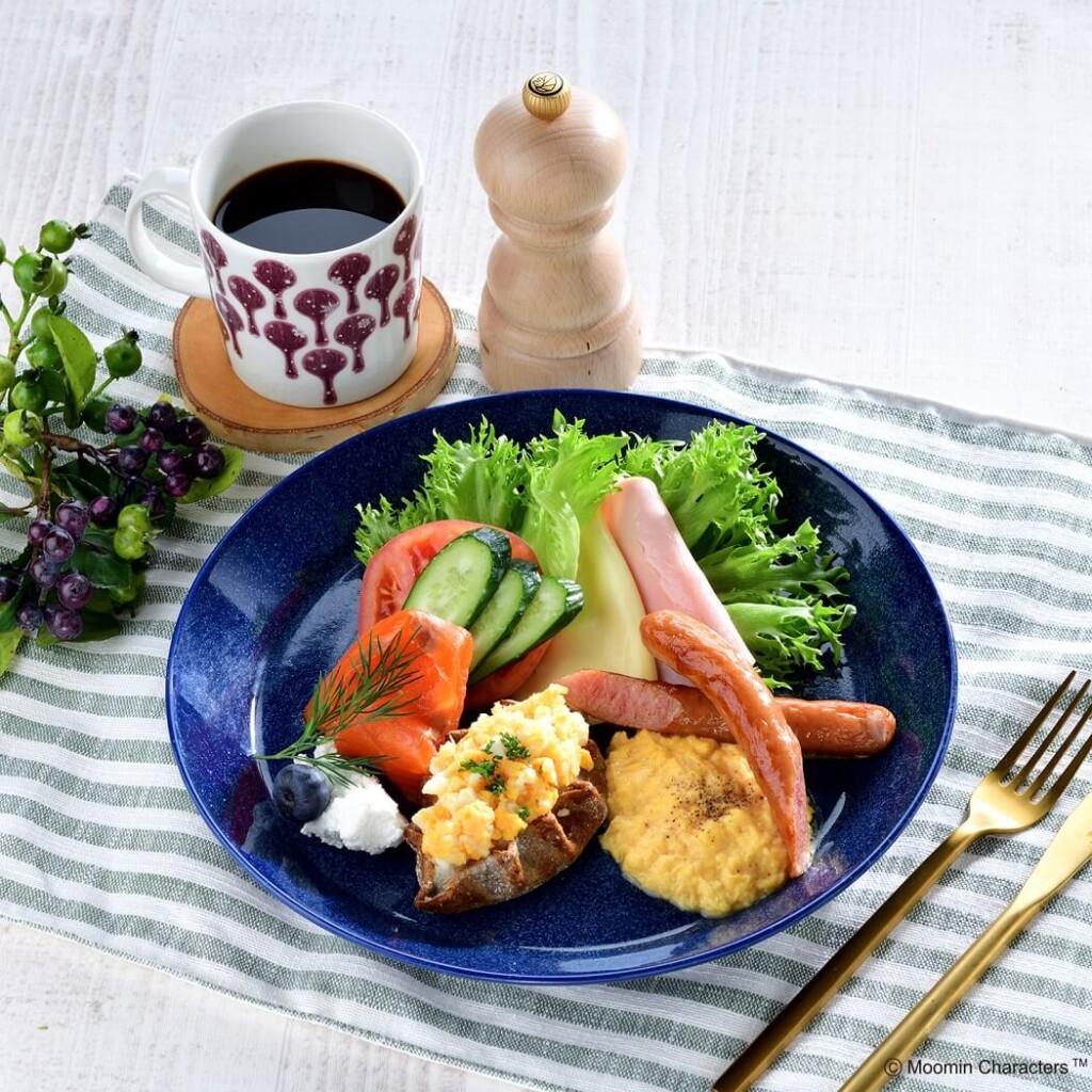 ムーミンカフェ 北欧の朝食プレート