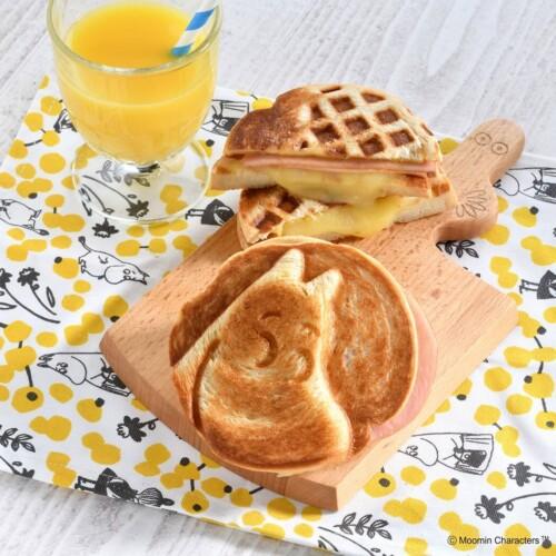 ムーミンカフェ ホットハムチーズサンド