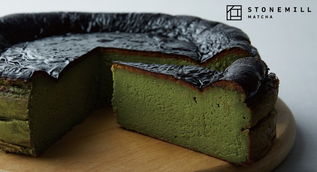 プロント STONEMILLの抹茶バスクチーズケーキ