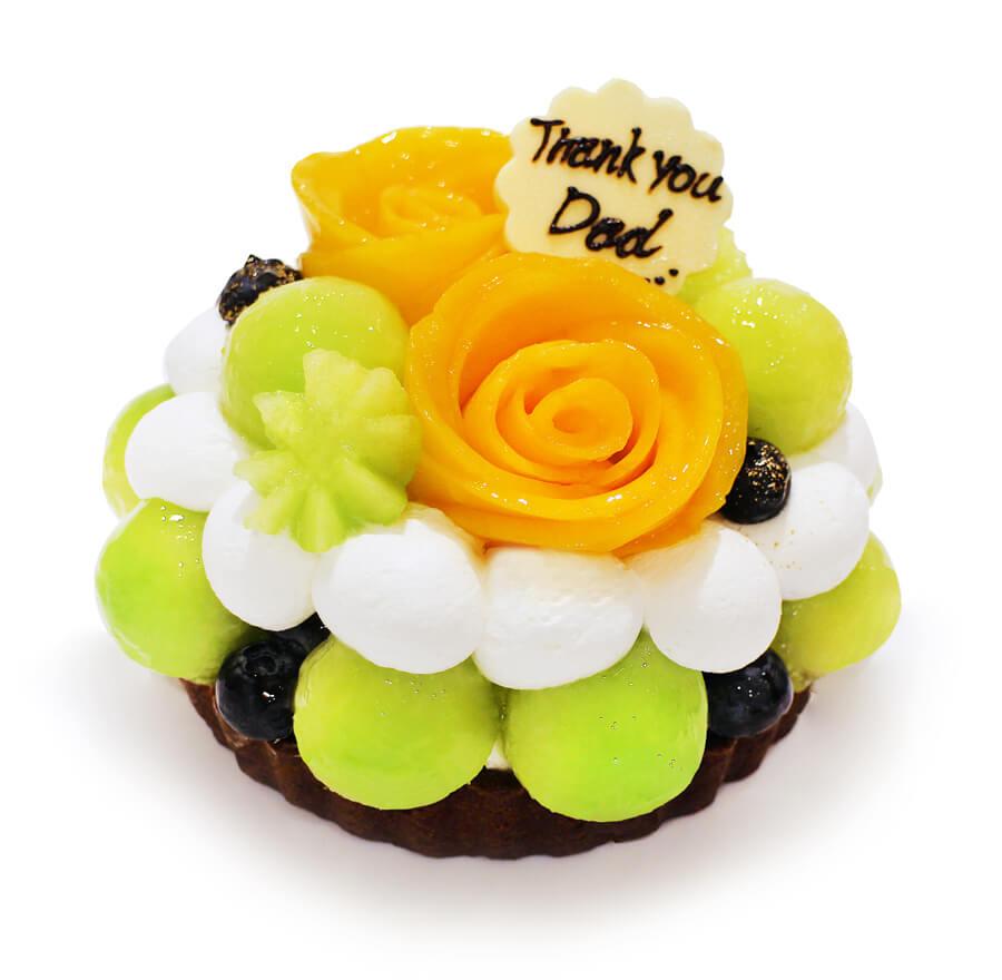カフェコムサ マンゴーローズとメロンのケーキ