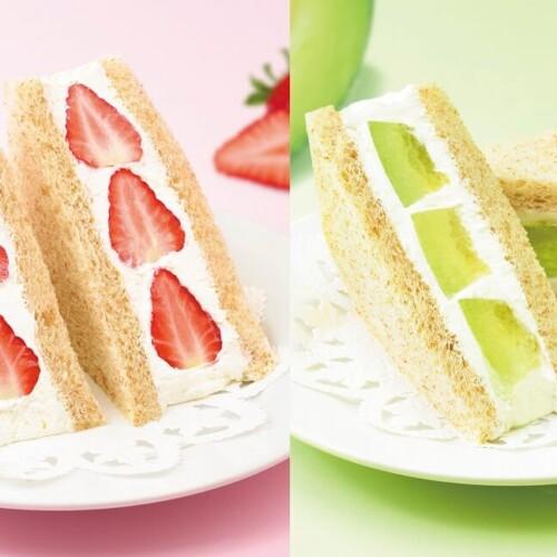 銀座コージーコーナー 『苺のフルーツサンドウィッチ』と『茨城県産メロンのフルーツサンドウィッチ』